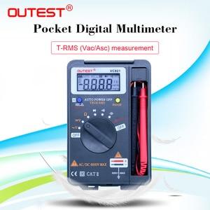 OUTEST VC921 3 3/4 DMM Интегрированный персональный карманный мини цифровой мультиметр, измеритель сопротивления емкости, Частотный тестер