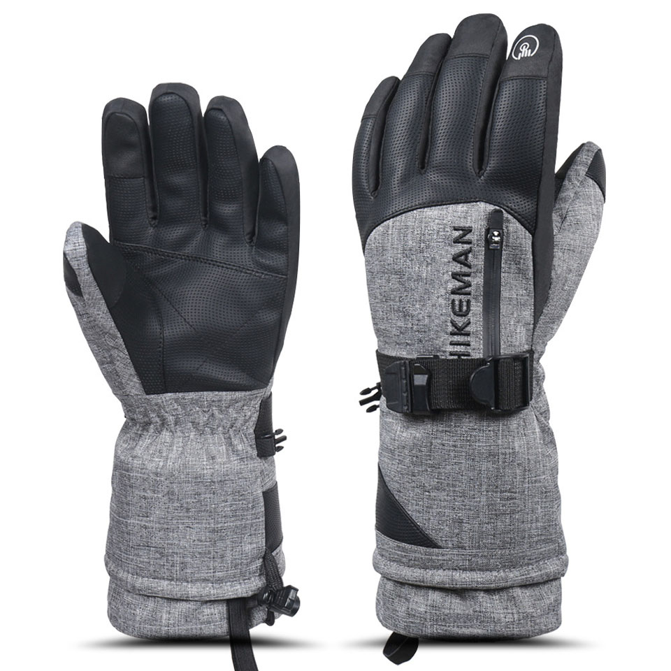 Loogdeel Ski Gloves Waterproof Gloves With Touchscreen Function Snowboard Heated Gloves Warm Snowmobile Snow Gloves Men Women