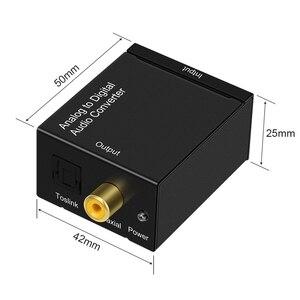 Image 3 - EMK Analoog naar Digitaal Audio Converter Adapter ADC 2 RCA R/L Input Coax Toslink Uitgang Optische SPDIF Converter speaker TV DVD