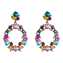 New Boucle Doreille Femme Summer Fashion Earrings Glass Retro Party Female Boho