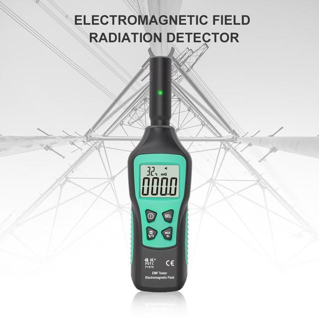 FUYI FY876 Handheld EMF Meter Electromagnetic Radiation Detector Monitor Household High Precision Wave Radiation Tester