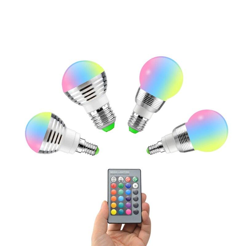 E27 E14 LED Bulb 5W 7W RGB 16 Color Changeable LED Lamp 110V 220V RGB LED Light Bulb Spotlight With IR Remote Control Home Decor|LED Bulbs & Tubes| - AliExpress