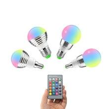 Светодиодный светильник E27 E14, 5 Вт, 7 Вт, 16 цветов, переменный светодиодный светильник 110 В, 220 В, светодиодный светильник RGB, точечный светильни...