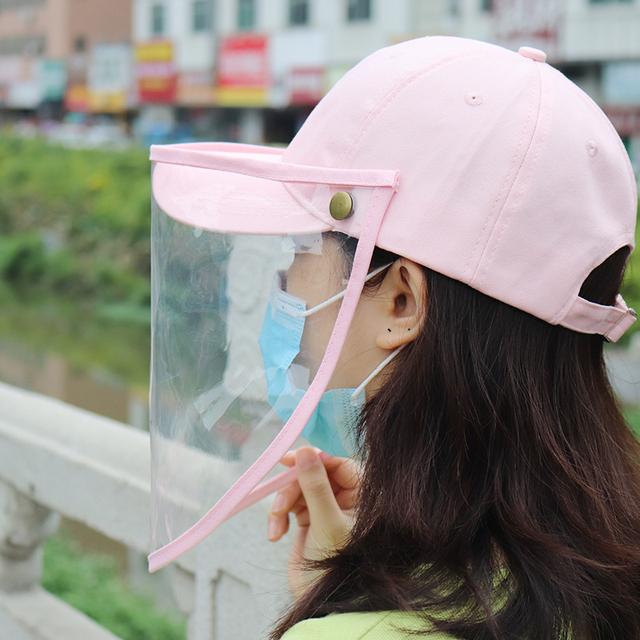 Women Men Outdoor Anti-Spitting Anti-saliva Protective Hat Removable Safety Face Shield Visors cap Anti-Fog Dust Cycling hat 5