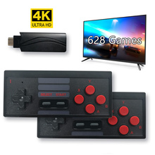8Bit 4K HDMI Video Game Console Built in 628 Classic Games Mini Retro TV Console Box Wireless Controller HDMI Output Dual Player