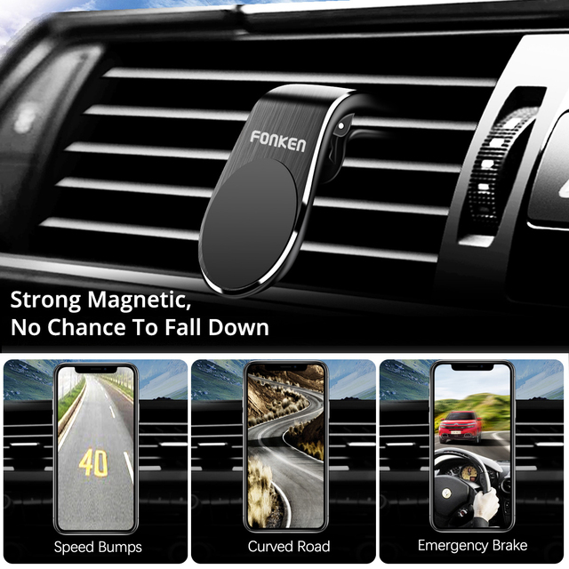 Universal Magnetic Car Phone Holder for iPhone 11 Pro Max Huawei Xiaomi GPS Navigation