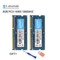 Latumab 8GB 16GB DDR3 1866MHZ PC3 14900 Laptop Memory So Dimm Memory Ram 204 Pins 1.5V Notebook PC Memory RAM Memory Module