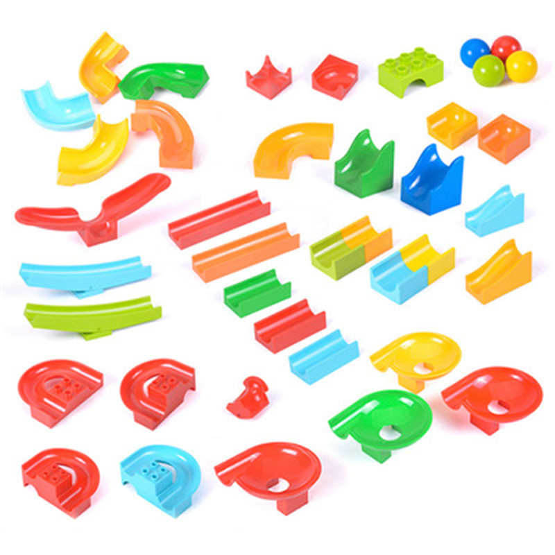 One  PCS Big Size DuploBall Slide Building Blocks Bricks Accessory Compatible With Duplos Base Transparent Toys Duploingly Gift