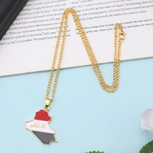 Plate Pendant Necklace Flag Of Republic Of Iraq Jewelry Gift For Women Men  Map Pendant Necklace Jewelry