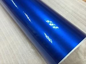 Image 3 - Top quality 10/20/30/40/50/60X152CM/Lot Blue Glossy Metallic Glitter Car Sticker for car wraps Glossy Candy Vinyl Film