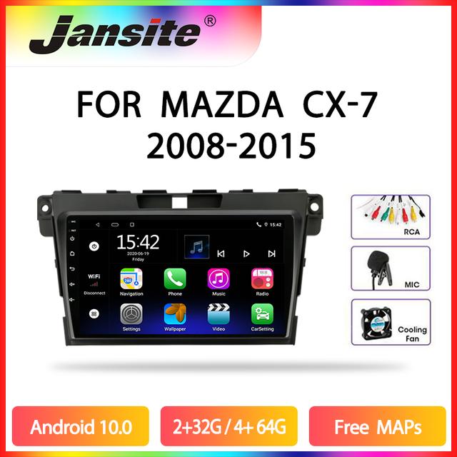 Jmcq Autoradio Android 10 Multimidia Video Speler Voor Mazda CX 7 Cx7 Cx 7 2008 2015 2 Din Drijvende venster Split Screen Speler