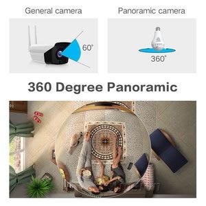 Image 2 - 360 학위 와이파이 미니 카메라 960P HD CCTV 파노라마 야간 모션 감지 홈 감시 원격 감시자 마이크로 캠