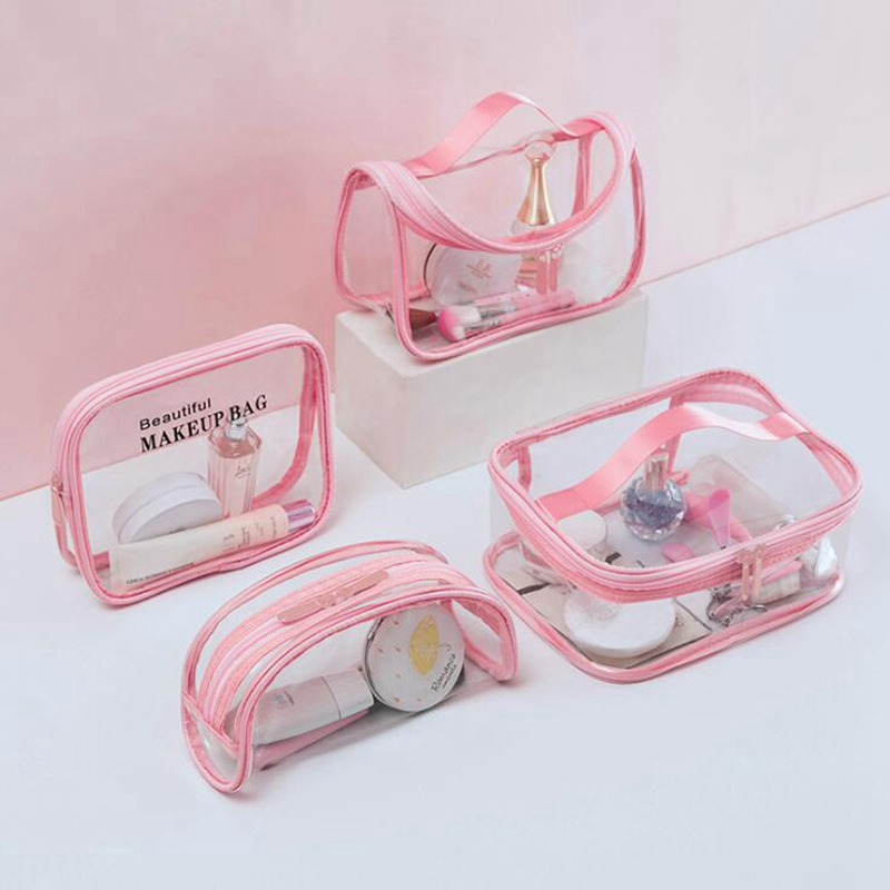 Multifunction Transparent Waterproof Travel Clear Makeup Bag Organizer Storage Makeup Case Large Capacity Make Up Pouch Wash Bag