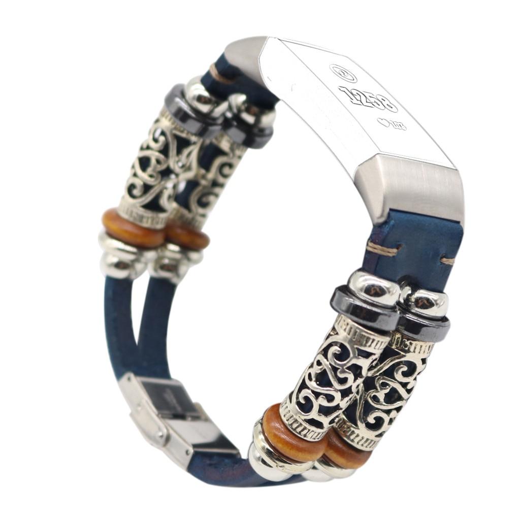 Para Fitbit Charge 3 correa de pulsera inteligente de cuero correa de reloj pulsera para Fitbit Charge 3 triangulación de envío