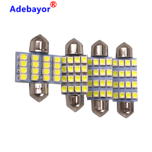 100 pcs 3528 1210 สีขาว 16 SMD LED รถโดม Festoon ภายในหลอดไฟ 31 มม.36 มม.39 มม. 41 มม.หลังคารถ Trunk Light DC 12V