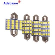 Bombillas LED para Interior de techo de coche, luz de maletero de coche, CC de 12V, 100, 3528, blanco, 16 SMD, 31mm, 36mm, 39mm, 41mm, 1210 Uds.