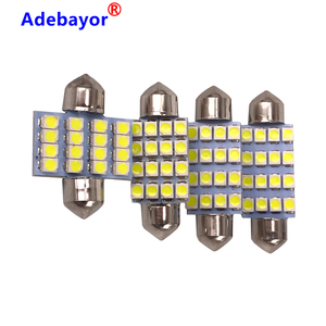 100 pcs 3528 1210 white 16 SMD LED Car Dome Festoon Interior Lights Bulbs 31mm 36mm 39mm 41mm Auto Roof Car Trunk light DC 12V