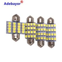100 stücke 3528 1210 weiß 16 SMD LED Auto Dome Girlande innen Lichter Leuchtmittel 31mm 36mm 39mm 41mm Auto Dach Auto Stamm licht DC 12V