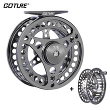 Goture Fly Fishing Reel 3/4 5/6 7/8 9/10 2+1BB Max Drag 8kg Lightweight CNC-machined Large Arbor Left/Right Fly Reel+Spare Spool