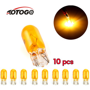10 pcs w5w T10 parking lights Halogen bulb for cars 194 501 Side wedges car light source instrument lamp yellow