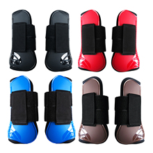 Horse Leg Boots Fetlock Boots Front Hind Leg Tendon Protect Equestrian, PU Shell and High-Quality Neoprene for Riding Training