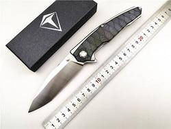 Cuchillo plegable Kesiwo KH06 Black-Shark D2 blade G10 mango de calidad al aire libre/camping/táctico/cuchillo de supervivencia EDC herramienta de mano de caza