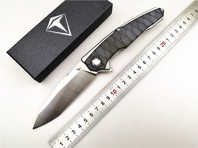 Folding Knife Kesiwo KH06 Black-Shark D2 Blade G10 Handle Quality Outdoor/camping/tactical/survival Knife EDC Hunting Hand Tool