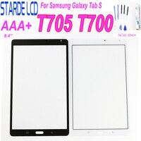 Novo painel da tela de toque frontal substituição para samsung tab s 8.4 SM T700 t705 t705c SM T705 digitador da tela toque peças Painéis e LCDs p/ tablet     -