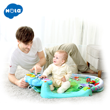 HOLA 1102 Baby Multifunctional Play Rug Develop Crawling Childrens Piano Music Mat Infant Fitness Carpet Rack Learning Toy