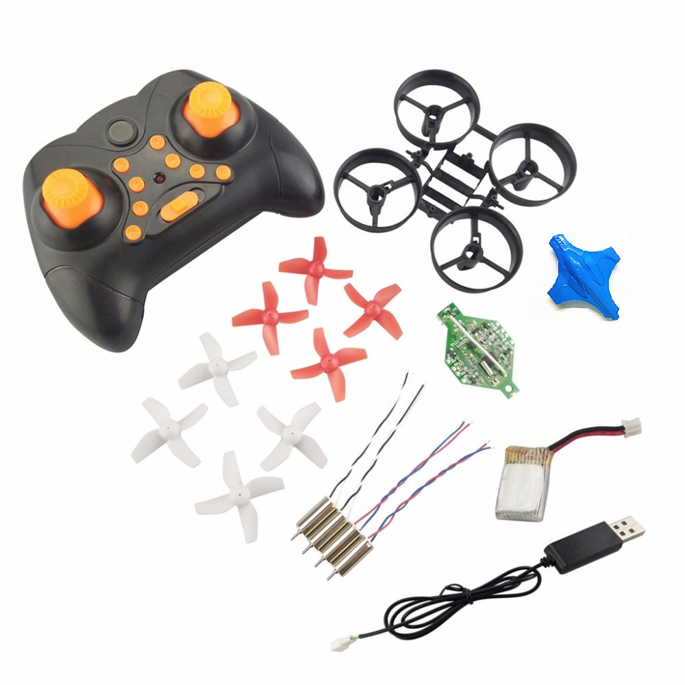 DIY Min RC Drone Remote Control Helicopter Fit Eachine  Headless Quadcopter Propeller Motor Battery Receiver Board Accessories