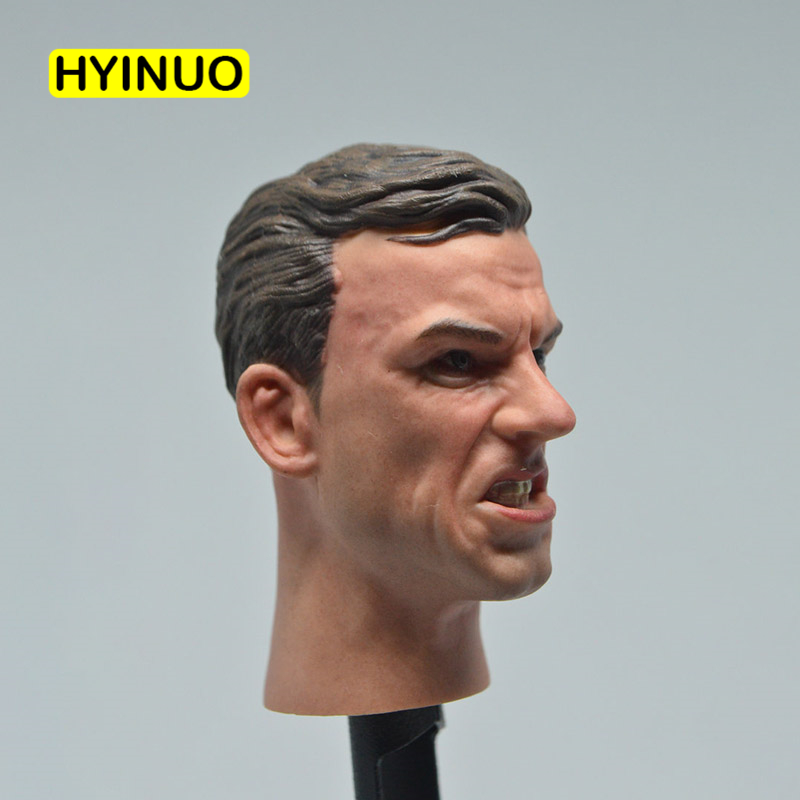 1/6 Scale Anti World War II Heroes Angry Male Man Boy Soldier Edition Head Sculpt Sculpture Headplay for 12 Action Figure Body