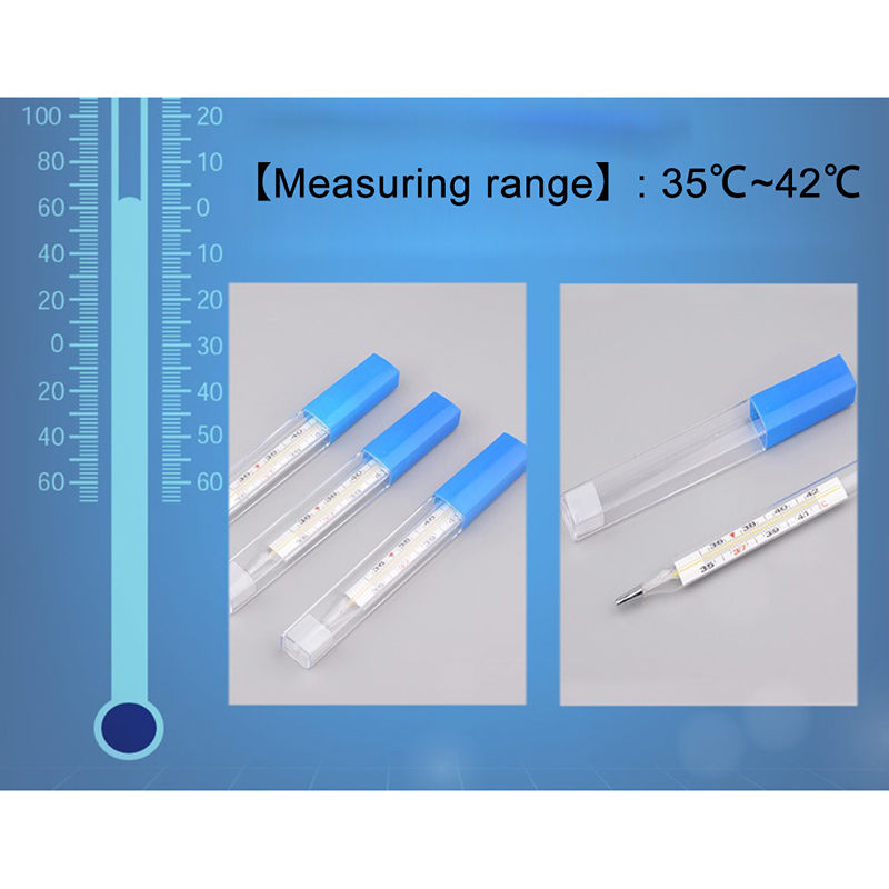 Body Temperature Measurement Device Armpit Glass Mercury Thermometer Home Health Care Product Large Size Screen 4