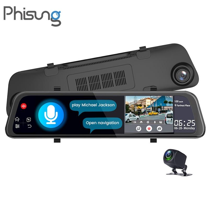 Phisung V68 Голосовое управление 4G Автомобильный видеорегистратор Android GPS навигация ADAS WiFi 2CHS 4g видеорегистратор камера заднего вида авто Regis