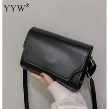 High Quality PU Leather Messenger Bag Women Vintage Waterproof Crossbody Bags Female Black Khaki Bolsos Para Mujer Casual Sac