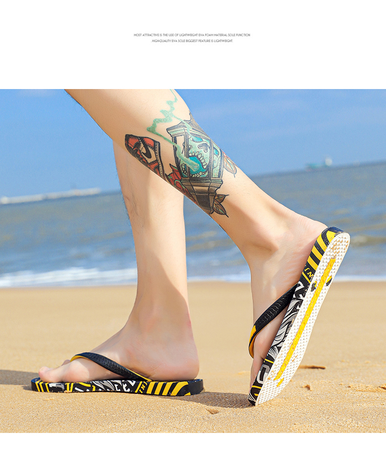 He380a1d7db9443119da955b2efc024fe1 - VESONAL Summer Graffiti Print Slippers Men Shoes Flip Flops Slipers Male Hip Hop Street Beach Slipers Casual Flip-flops