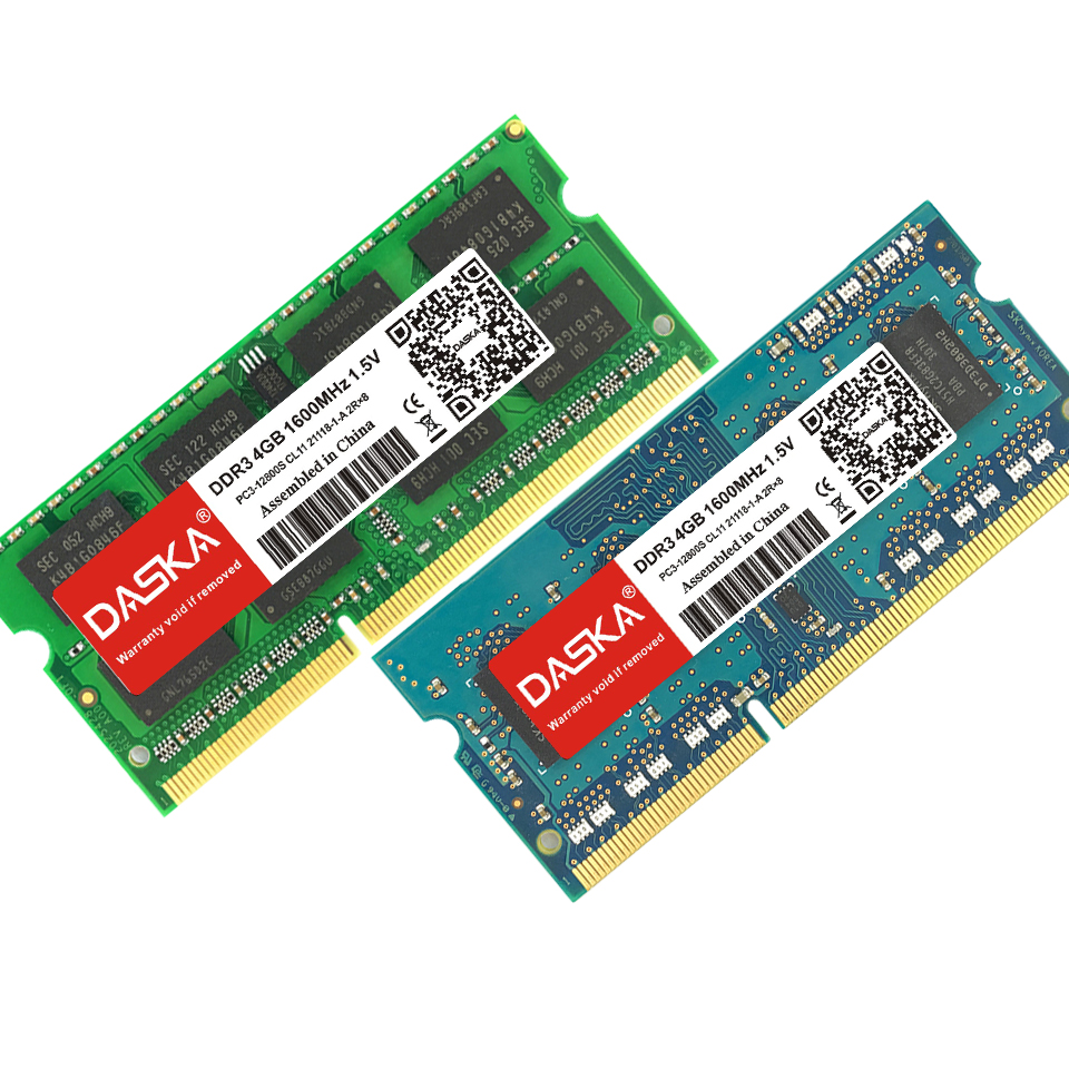 DASKA Laptop RAM Memory With 2GB 4GB 8GB 1600/1333 MHz Suitable for Laptop 11