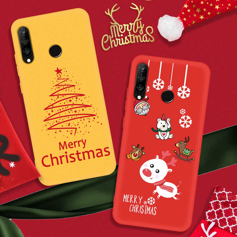 Soft TPU Silicone Cases For Huawei Honor 8X 9X 20 10 Lite Christmas Santa Claus New Year Cover For Huawei P20lite P30lite Shell