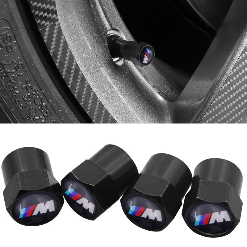 4 Pcs Car Tire Wheel Valve Cap Air Protection Cover For Bmw M Sticker X1 X3 X4 X5 X6 X7 E46 E90 F20 E60 E39 F10 Car Accessories