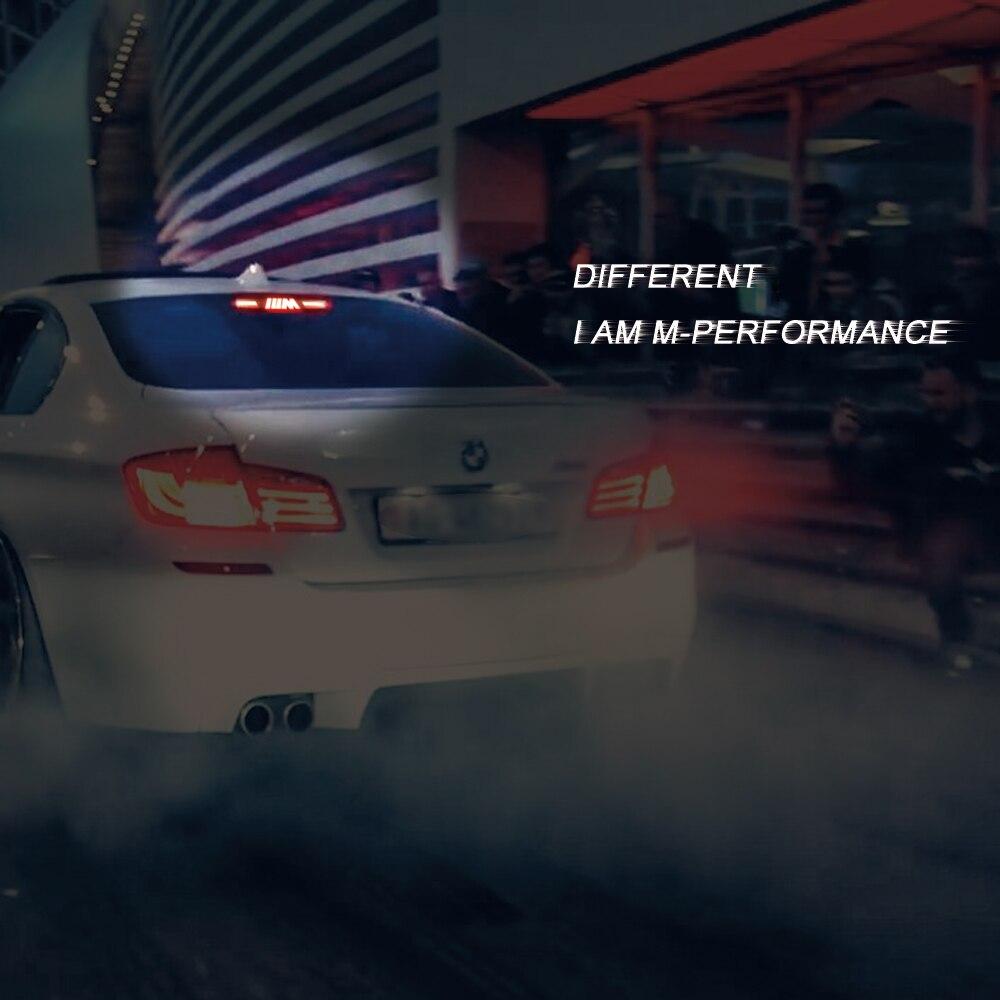 1 Uds. Cubierta de la luz de freno para BMW Serie 3 E46 E90 E92 E93 F30 F35 F80 F31 pegatina acrílica de la decoración M de la luz de freno
