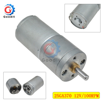25GA370 DC Geared Motor with Encoder Low Speed Disc Large Power High Torque Toys 12V Micro Gearbox Reducer Electric Motor image