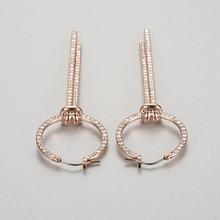 High quality 1:1 Swa  new noble temperament tasseled Earrings