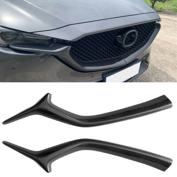 цена на Net decoration strip Front grille side trim Accessories  Medium mesh stripes Air intake grille For Mazda CX-5 CX-8 2017-2020