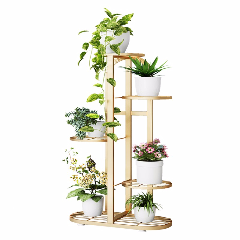 Indoor Balcony Decorate Landing Type Multi-storey Flower Rack Shelf Chlorophytum Green Luo Flowerpot Frame