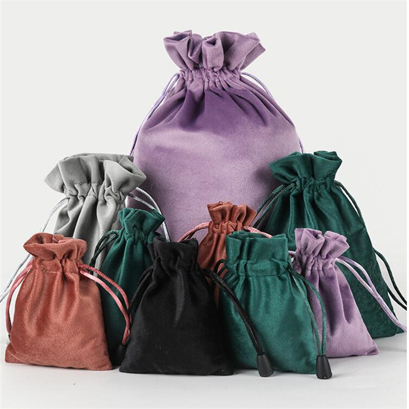 Velvet Package Bags Organza Drawstring Gift Bags Wedding Jewelry Packaging Pouches