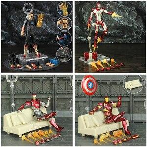 "Image 5 - Iron Man 6"" Action Figure Ironman Nano MK50 MK85 MK47 Mark 50 85 46 47 Tony Stark Legends KOs SHF Avenger Endgame Toys Doll"