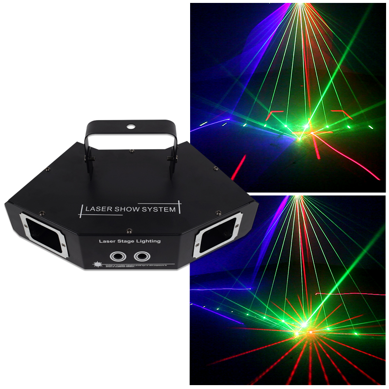 YSH Disco Laser Light RGB Full Color Beam Light DMX DJ Effect Projector Scanner Laser Stage Lighting