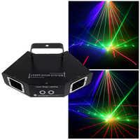 Ysh disco laser luz rgb cor cheia feixe de luz dmx dj efeito projetor scanner iluminação palco laser