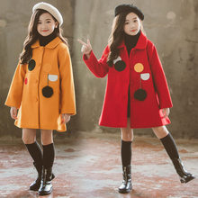 Winter Jackets for Girls Outwear Kids Wool Coat Thick Girl Snowsuit Baby Jackets Girls Blends Toddler Fur Coats Children Clothes canis toddler baby girl kids clothes winter faux fur waist gilet jacket outwear vest coat baby girls jackets winter coats warm
