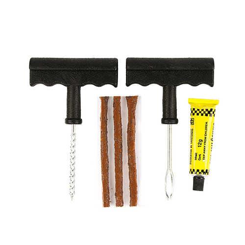 6 unids/set Kit de herramientas de reparación de seguridad para neumáticos sin cámara