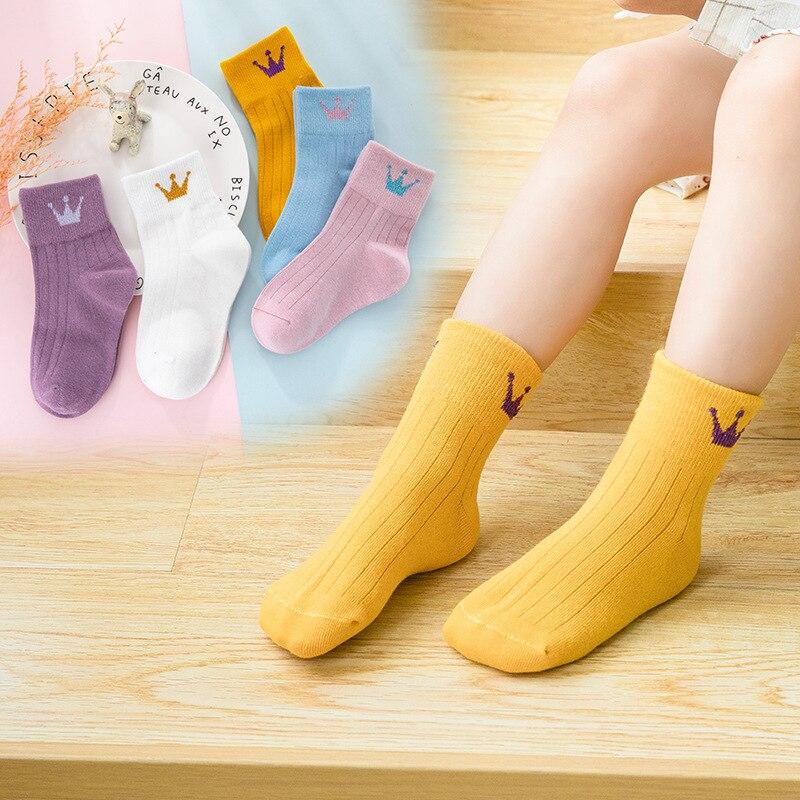 5 Pairs Baby Boy Socks Children Autumn Winter Cartoon Socks For Girls Kids For Girls To School Sport Baby Girl Clothes